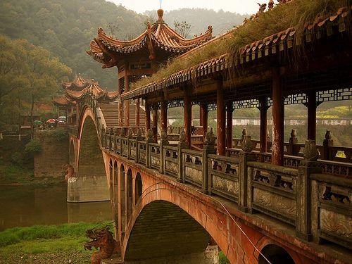 westeastsouthnorth:    Leshan, Sichuan, China: Favorite Places, Ancient China, Ancient Bridges, Amazing Places, Sichuan Provinces, Travel, Architecture, Photo, Sichuan China