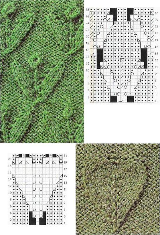 knit+leaf+chart5.jpg (559×821)