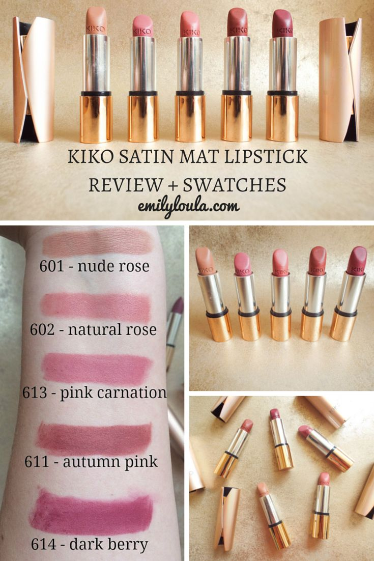 KIKO Velvet Matte Satin Lipsticks Full Review & Swatches #lipswatches #lipsticks #kikolipstick