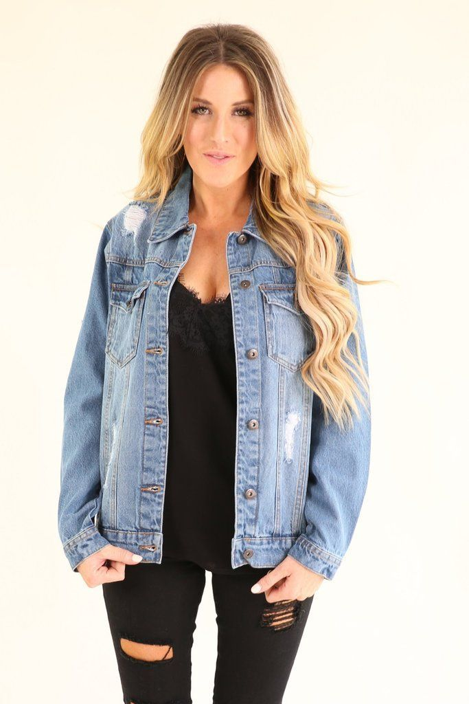 Denim jacket #fashionstylesforwomendenimjackets | Fashion