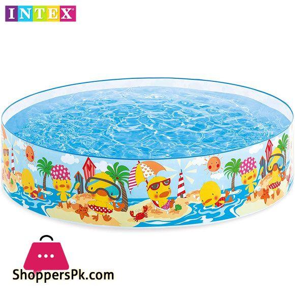 Buy Intex 4 Feet Duckling Snapset Pool Multi Colour 58477 At