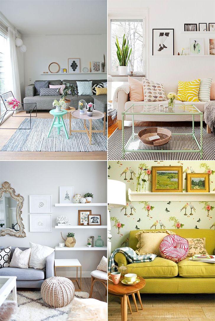 Como decorar a parede atrás do sofá