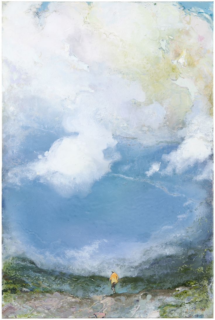 Tuomo Saali, Whispering Clouds, oil on canvas, 85x70cm, 2017