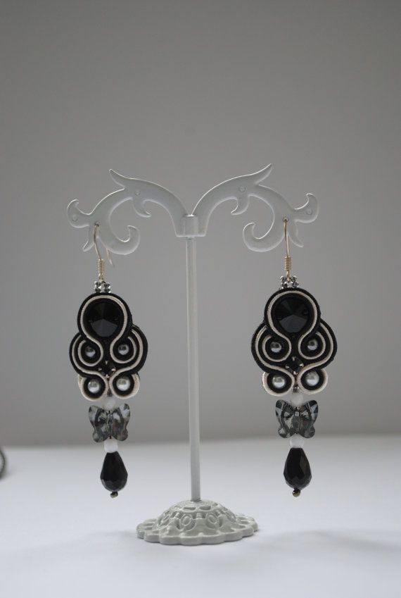 Dangle earrings soutache earrings soutache by rodicasoutache