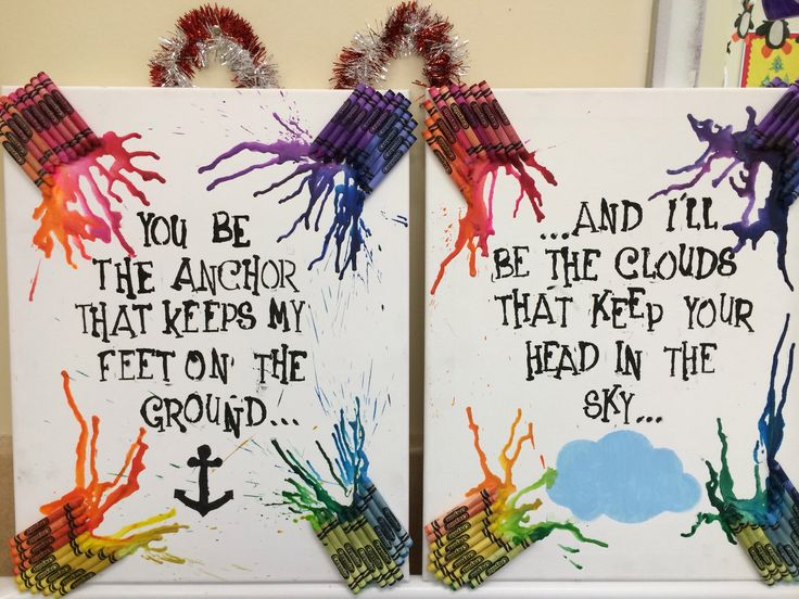 Christmas gift for my best friend. Saw this quote on a tattoo. love the melting crayon effect.