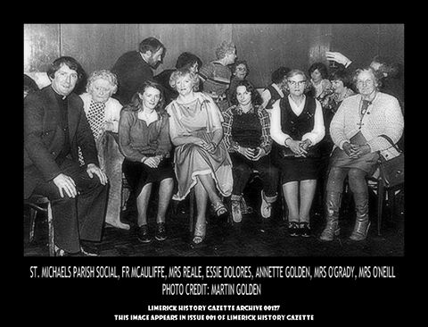 ST. MICHAEL'S PARISH SOCIAL NIGHT, FR MCAULIFFE, REALE, DOLORES, GOLDEN, O'GRADY AND O'NEILL FAMILIES, 1975