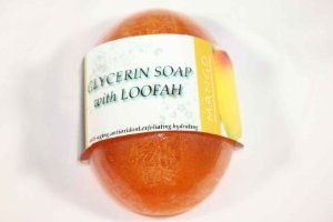 Body Creations Glycerin Soap with Loofah - Mango (3 Pack) by Body Creations. $10.00. Keeps your skin hydrated and moisturize without any harsh chemicals. All Natural Biodegradable Loofah for exfoliation. Contains herbal extracts and natural vitamins. Organic Essential and Fragrance Oils for a refreshing and amazing scent. 100% Pure Glycerin Soap with Loofah that contains no harsh detergents, dyes or hardeners. Ever wonder why your skin is so dry? The soap you buy at your local g...