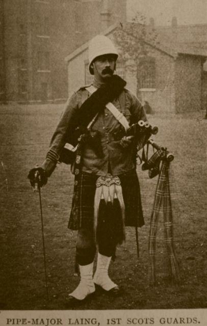 Boer War: Pipe Major Laing 1st Scots Guards(1900) by ART NAHPRO, via Flickr