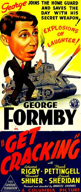 Get Cracking (1943) Stars: George Formby, Dinah Sheridan, Edward Rigby ~ Director: Marcel Varnel