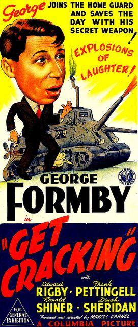 Get Cracking (1943) Stars: George Formby, Dinah Sheridan, Edward Rigby ~ Director: Marcel Varnel