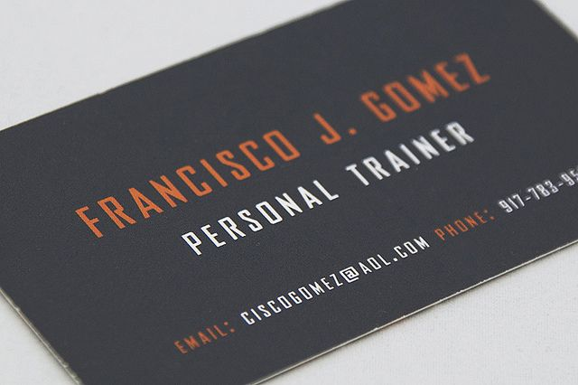 Personal trainer business card by christian arichabala for Sample personal trainer business cards