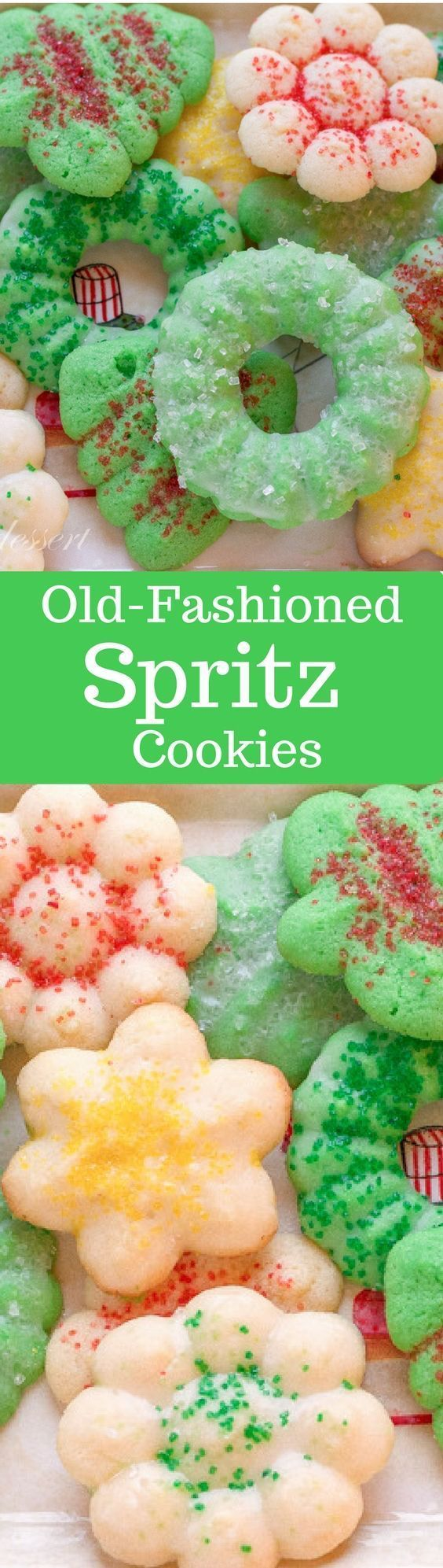 Old-Fashioned Spritz Cookies - perfect for your holiday table… (Favorite Cake Christmas Cookies)