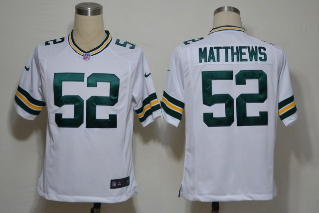 Nike NFL Jerseys Green Bay Packers Clay Matthews #52 White