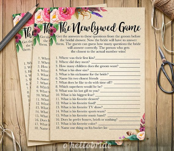 Best 25+ Bridal Shower Newlywed Game Ideas On Pinterest