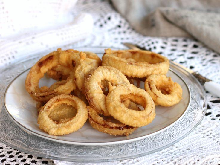 ANELLI DI CIPOLLA IN PASTELLA FRITTI ricetta originale onion rings