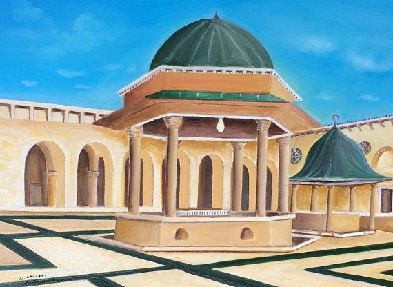 Aleppo mosqueAleppo mosque oil painting oil painting