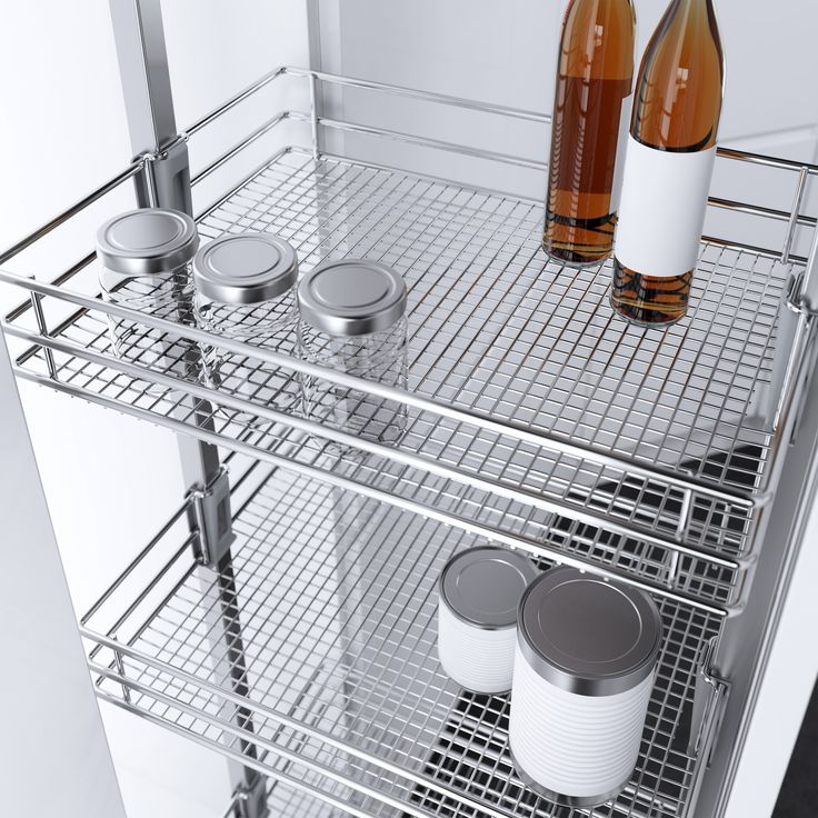 Vauth-Sagel's HSA Pull Out Pantry Unit with Saphir Chromed Wire baskets