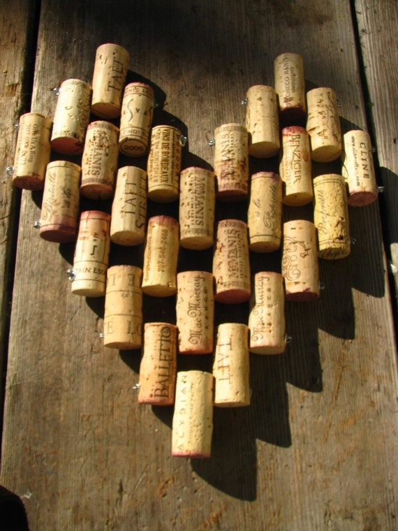 Heart Shaped Recycled Wine Cork Trivet By Sarahracha On