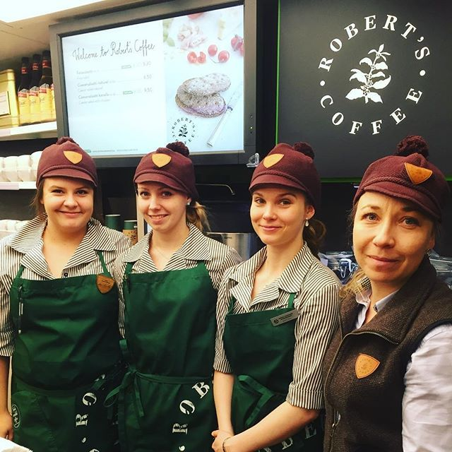 Touchpoint working uniforms for Roberts Coffee
