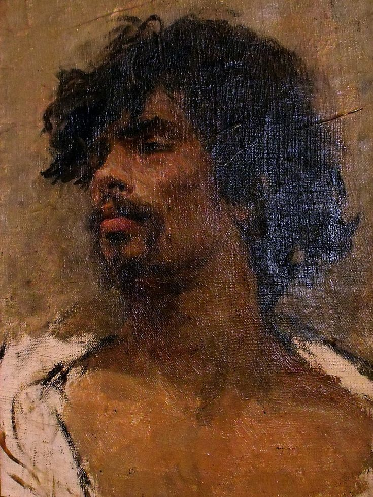 Mariano Fortuny y Marsal (1838-1874), Etude de tête d'homme - Marià Fortuny i Marsal, known more simply as Marià Fortuny or Mariano Fortuny, was the leading Catalan painter of his day, with an international reputation.