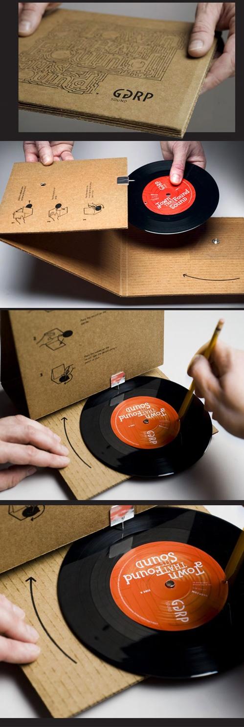 Cardboard turntable