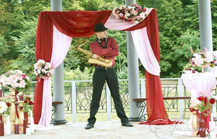 марсала и пудра! Организация, оформление, декор, свадебные аксессуары Дизайн-студия ANDREANNA