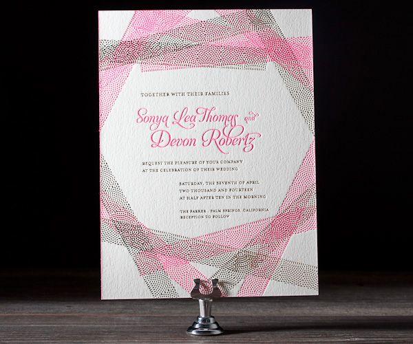 Letterpress Wedding Invitations | New Washi Design | Bella Figura Letterpress