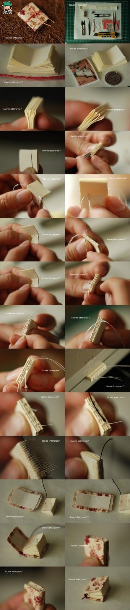 how to make a tiny journal...