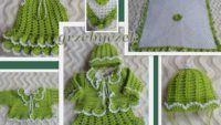 Battaniyeli Örgü Bebek Takımı