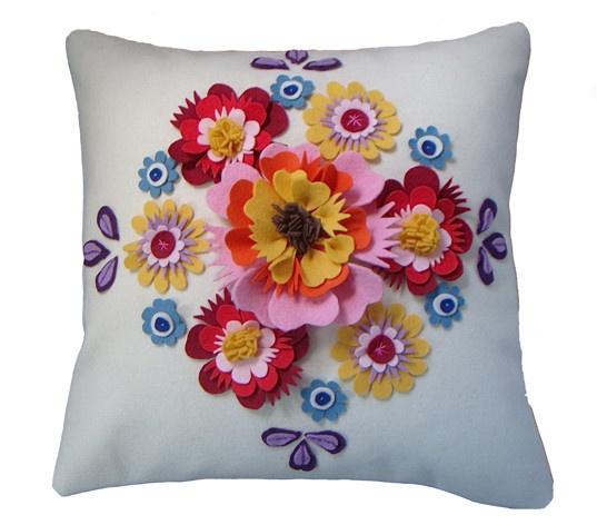 Folk Floral Cushion by Cushlab at Curated @cushlab1 @curatedonline