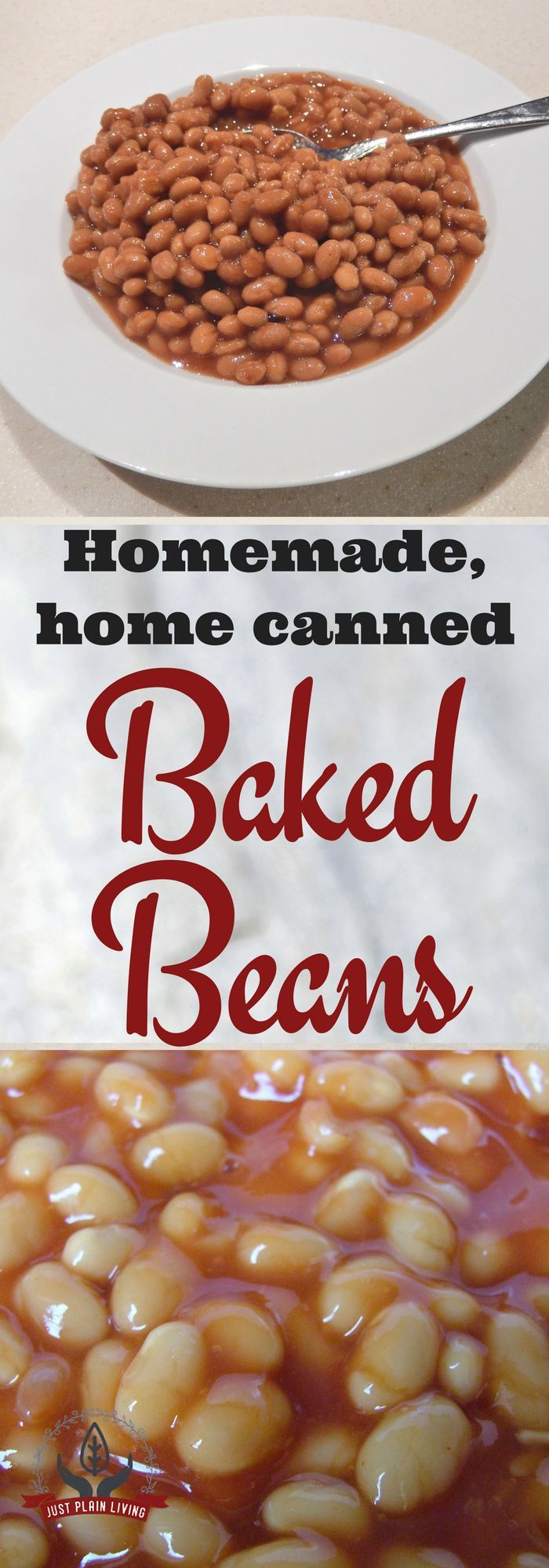 Canned baked beans are one of those ultimate convenience foods. But homemade canned beans are less expensive, tastier and far more adaptable. via @justplainmarie