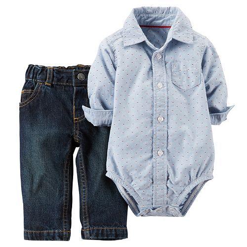 kohls na Baby Boy Carter s Bodysuit & Jeans Set