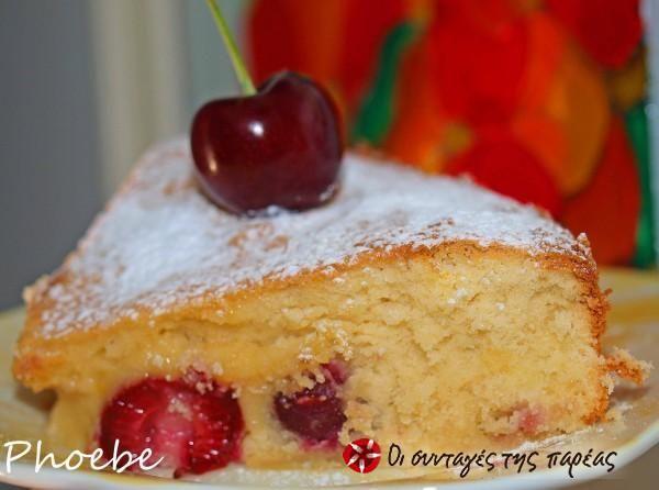 Κέικ με κεράσια #sintagespareas
