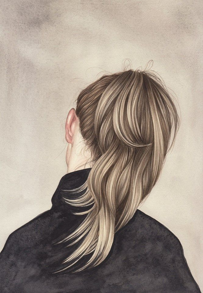 Hairwattpad Lukisan wajah, Menggambar rambut, Gambar pastel