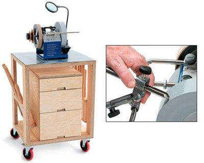 How to Sharpen a Curved Woodturning Tool with a Grinding Wheel or Sharpener - great guide