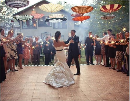 Ideas for wedding dance floor decorations that could work for other occasions