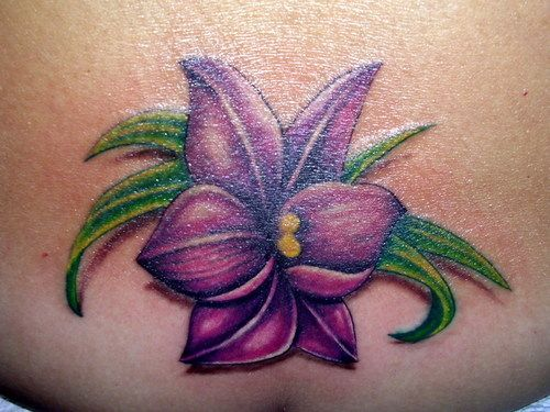 Purple Tattoo Flower Picture At Checkoutmyink