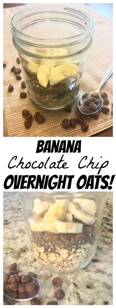 These Banana Chocolate Chip Overnight Oats are SO easy to make and ridiculously delicious! They're my go-to breakfast!