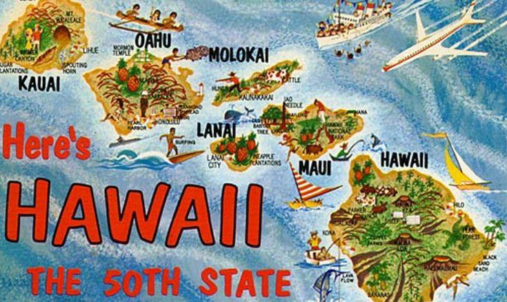 Hawaii Statehood Postcard