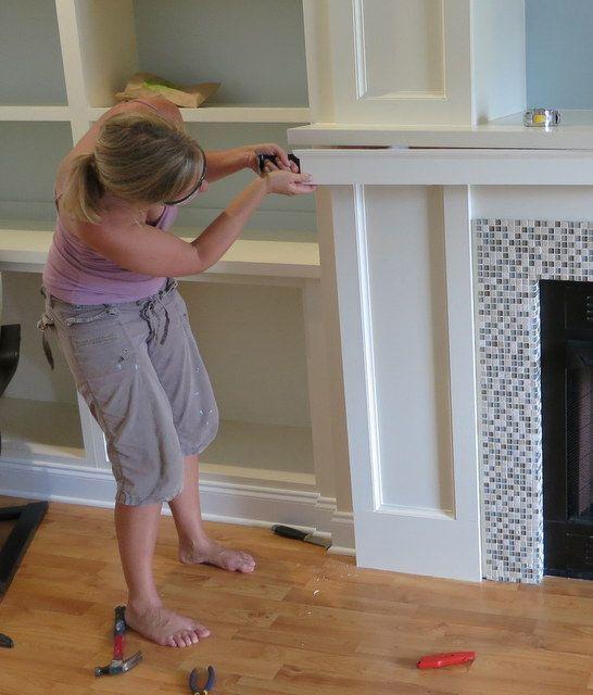 fireplace wall built-ins diy