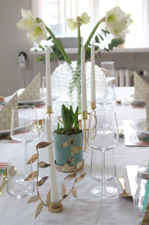 Tablesetting by blogger Anna at Starwoman - nakins from Dekohem