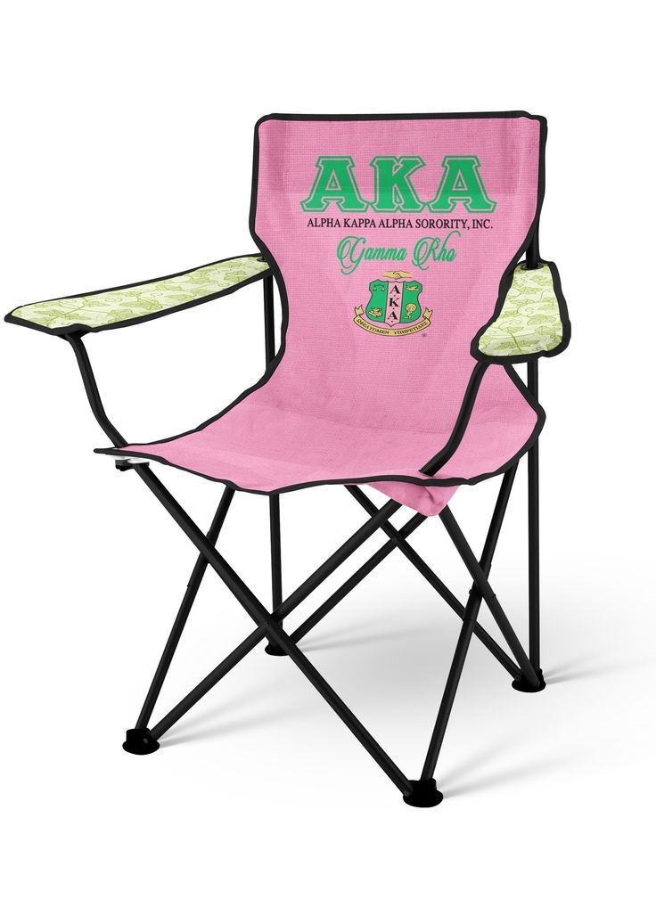 AKA Lawn Chair, Alpha Kappa Alpha Folding Chair - Designs by Dee's Hands  - 1