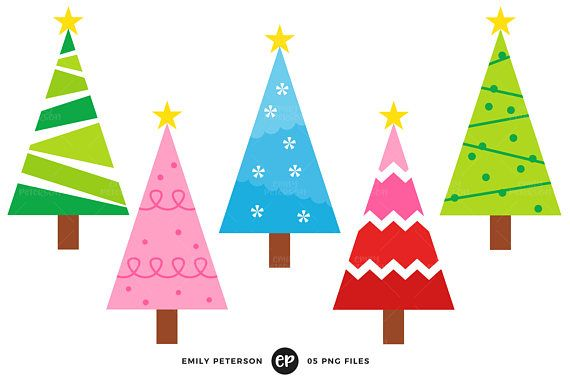 Christmas Tree Clip Art Christmas Clipart Whimsical Clip Art Etsy In 2020 Christmas Tree Clipart Christmas Clipart Whimsical Christmas Trees