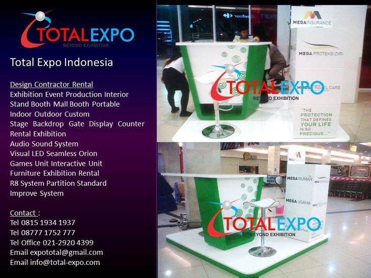 Jasa Display Pembuatan Booth Counter Mega Insurance