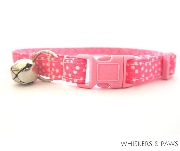 Itsy Bitsy Dots Pink Cat Collar