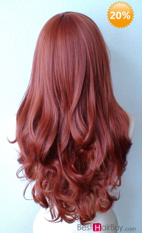 Rich Copper Hair--The clip in hair can quickly make you have a long and soft hair---Now it is 20% OFF DISCOUNT---Catch the chance!---pin by #Besthairbuy