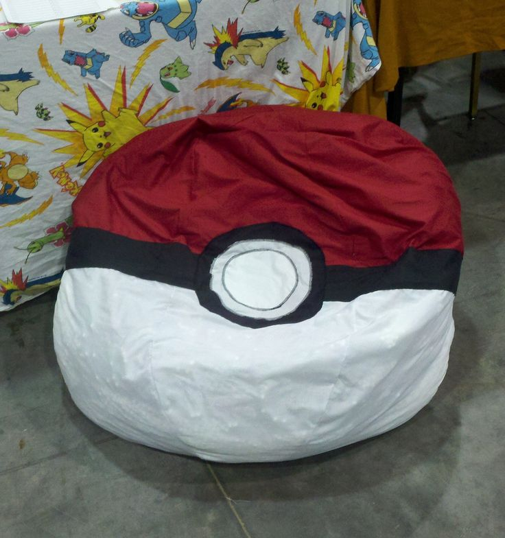 Pokeball Bean Bag Chair Cover 10000 Via Etsy