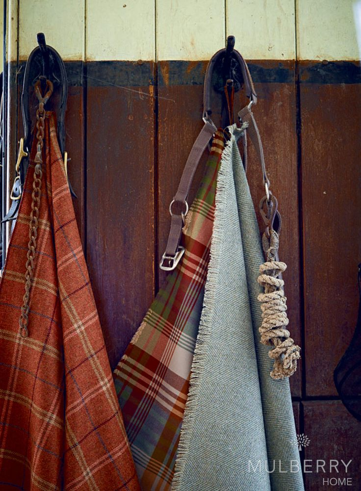 Ancient Tartan is always a favourite of ours by Mulberry Home. Such wonderful rich colours #fabric #tartan #country