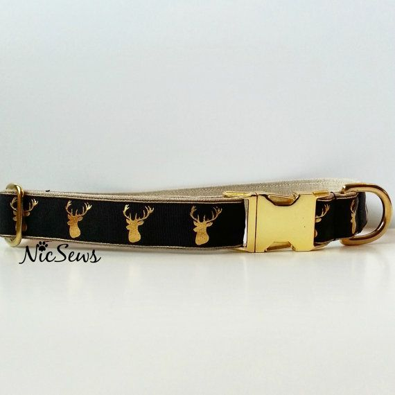 Dog Collar Deer hunter dog collar hunting dog collar by NicSews