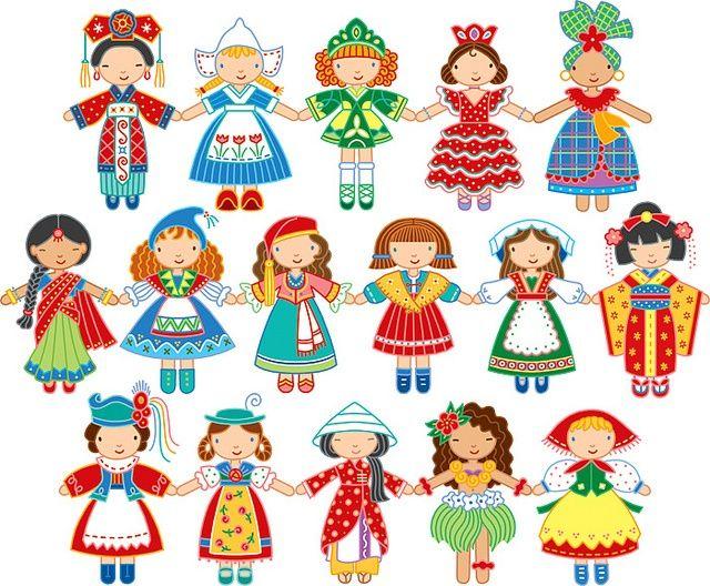 Folklore Fashion   Pretty maids in color - ideas para fieltro